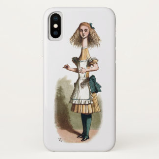 Alice im Wunderland neugieriger iPhone X Hülle