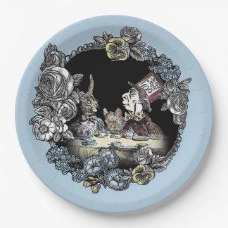 Alice im Wunderland-Platte-Wütender Pappteller