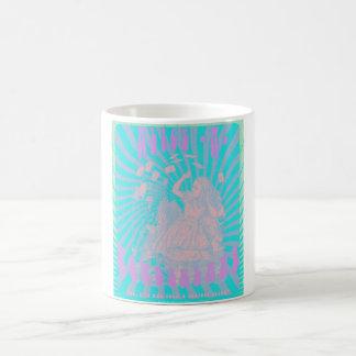 Alice im Wunderland - psychedelischer neugieriger Kaffeetasse