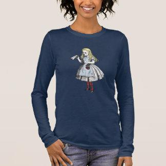 Alice im Wunderland-schottischer Langarm T-Shirt