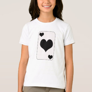 Alice im Wunderland-schwarzes Herz-Spielkarte T-Shirt