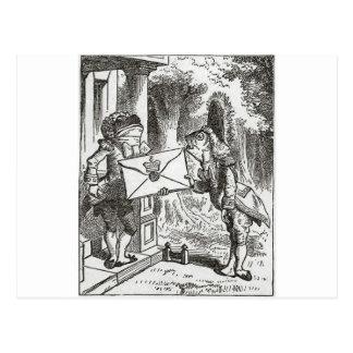 Alice im Wunderland-Schwein und Pfeffer Postkarte