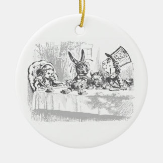 Alice im Wunderland-Tee-Party-Verzierung Keramik Ornament