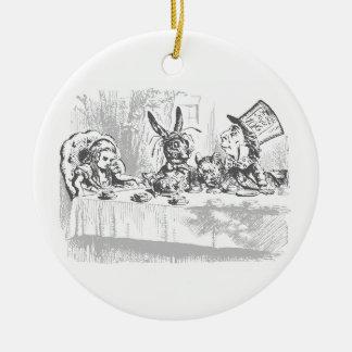 Alice im Wunderland-Tee-Party-Verzierung Rundes Keramik Ornament