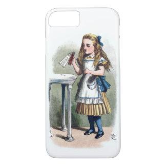 Alice im Wunderland trinken mich Vintage Vorlage iPhone 7 Hülle