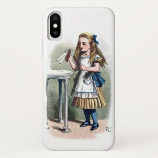 Alice im Wunderland trinken mich Vintage Vorlage iPhone X Hülle
