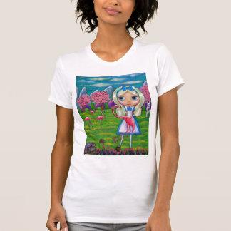 Alice im Wunderland und die Flamingos T-Shirt