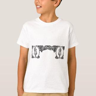 Alice im Wunderland-Vintager Rahmen T-Shirt
