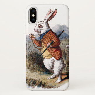 Alice im Wunderland-Weiß-Kaninchen iPhone X Hülle