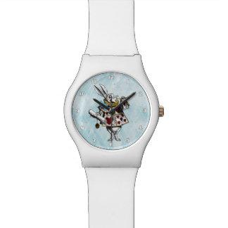 Alice im Wunderland-Weiß-Kaninchen Uhr