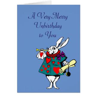 Alice im Wunderland: Weiße Kaninchen-Karte Grußkarte