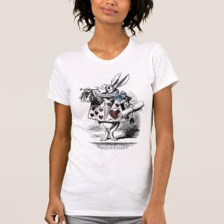 Alice im Wunderland-weißer Kaninchen-T - Shirt