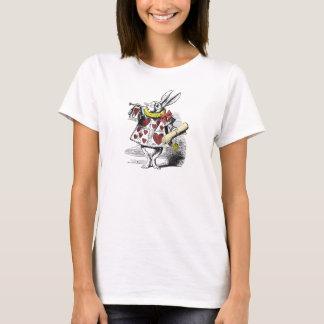 Alice im Wunderland-weißes Kaninchen-T-Shirt T-Shirt