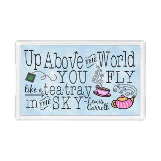 Alice im Wunderland-wunderliches Tee-Carroll-Zitat Acryl Tablett