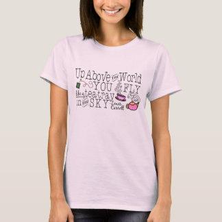 Alice im Wunderland-wunderliches Tee-Carroll-Zitat T-Shirt