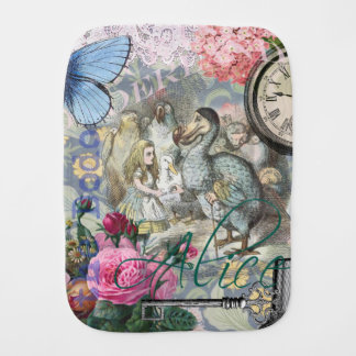 Alice im Wunderlanddodo-Vogel-Collage Spucktuch