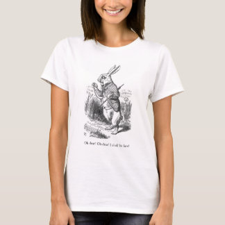 Alice im Wunderlandkaninchen-Illustrations-T - T-Shirt