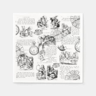 Alice im Wunderlandpapierservietten Papierserviette