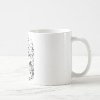 Alice konsultiert die Raupe Kaffeetasse