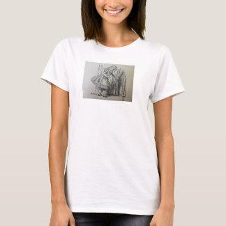 Alice schaut hinter dem Vorhang T-Shirt