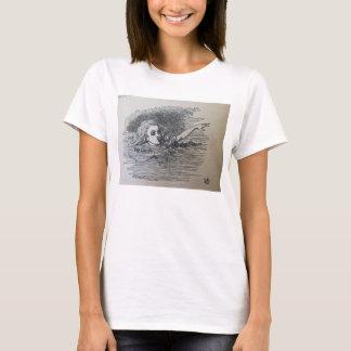Alice-Schwimmen in ihren Selbst zerreißt T-Shirt