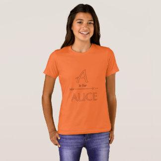 Alice-T-Shirt Mädchen T-Shirt