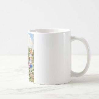 ALICE TRIFFT DIE SPRECHENBlumen AN Kaffeetasse