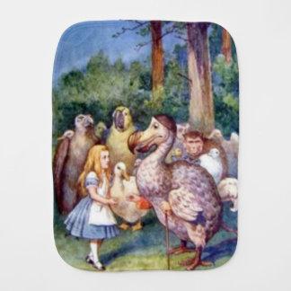 Alice u. der Dodo-Farbburp-Stoff Spucktuch