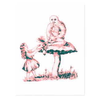 Alice u. die Raupe durch Lewis Carroll Postkarte