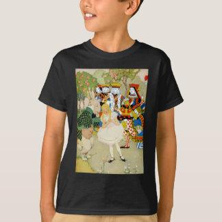 Alice und das Kaninchen in der Königin des T-Shirt