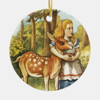 Alice und das Kitz Keramik Ornament