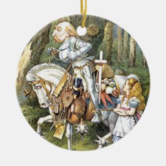 Alice und der weiße Ritter Keramik Ornament