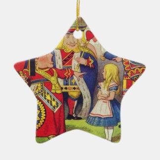 Alice und die Königin der Herzen Keramik Ornament