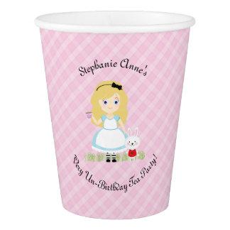 Alice und ihr Tee-Party Pappbecher