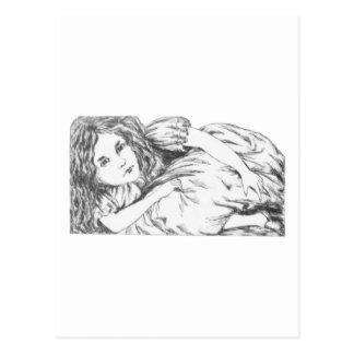 Alice wächst durch Lewis Carroll Postkarte