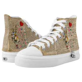 Alice, wütendes Hutmacher &Rabbit Vintages Hoch-geschnittene Sneaker