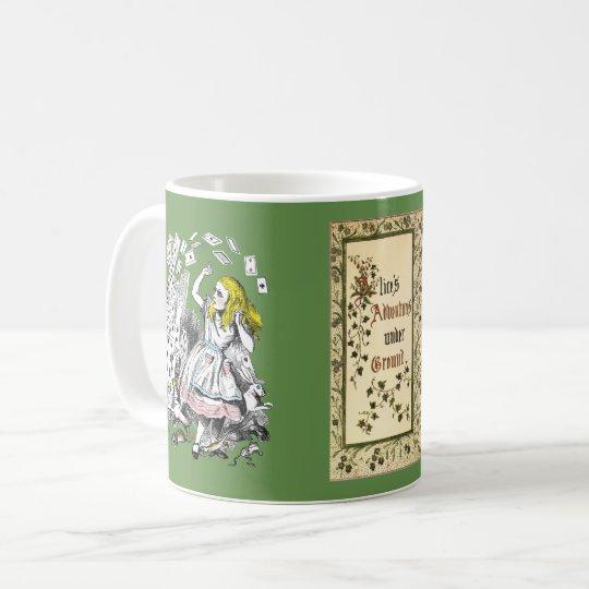 Alices Abenteuer unter Grundkunst Tasse