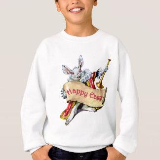 Alices weißes Kaninchen wünscht Ihnen fröhlichen Sweatshirt