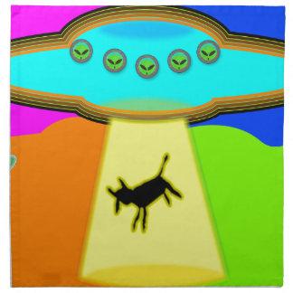 Alien-Abduktion Stoffserviette