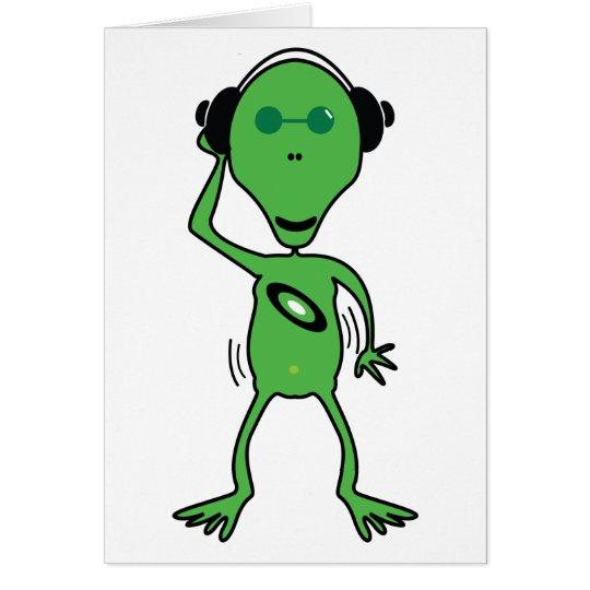 Alien DJ kardieren Grußkarte