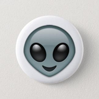 Alien Emoji Runder Button 5,7 Cm