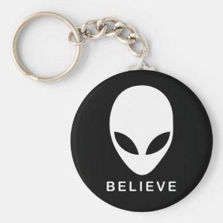 Alien glauben schlüsselanhänger