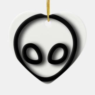 Alien-grauer Entwurf Keramik Herz-Ornament