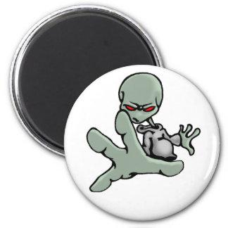Alien gris de graffiti - aimant
