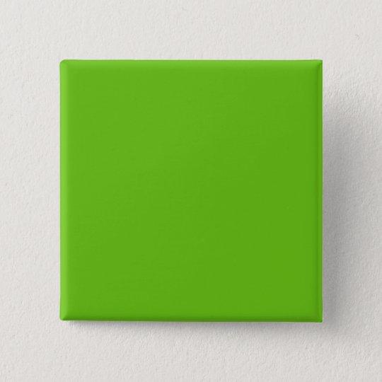 Alien-Grün Quadratischer Button 5,1 Cm