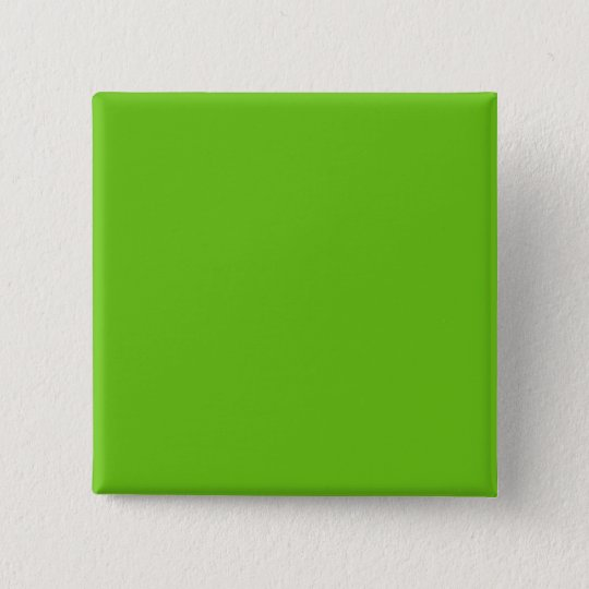 Alien-grüner quadratischer Knopf Quadratischer Button 5,1 Cm