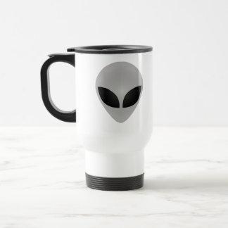 Alien-Kopf Reisebecher