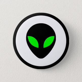 Alien-Kopf Runder Button 5,7 Cm