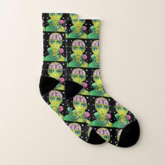 Alien-Lutscher Socken