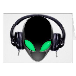 Alien-Musik-Liebhaber DJ - glatter Wal Grußkarte